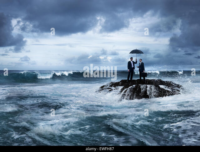 Business meeting on the island. - Stock Image