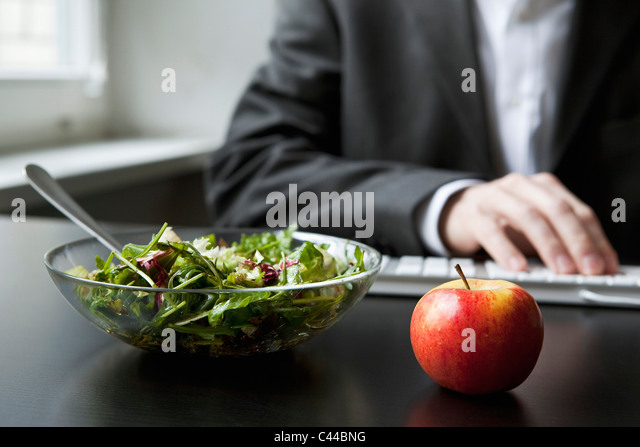 Healthy work lunch - Stock Image