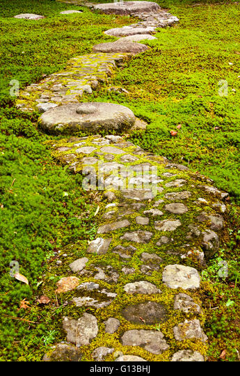 Path paved with big stones - Stock Image