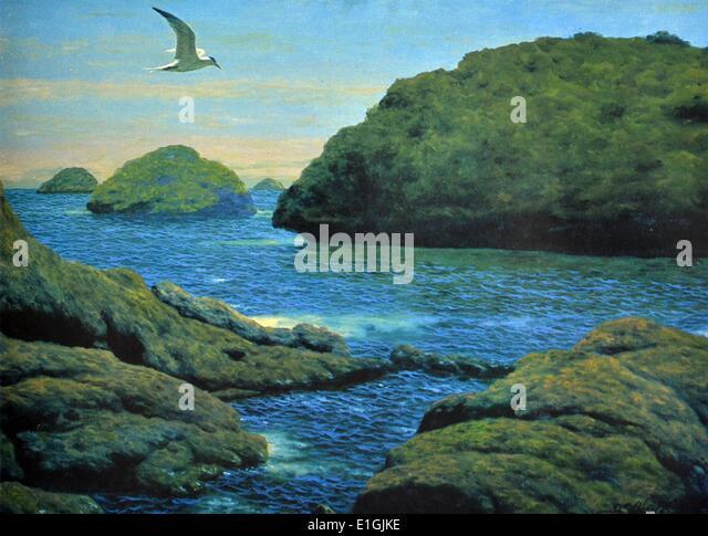 Amado Hidalgo, Tern on Flight, 1992. Oil on canvas. - Stock Image