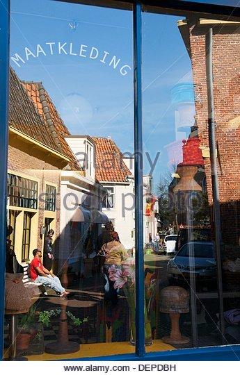 Antiquarian Maatkleding, Hoorn, Netherlands - Stock-Bilder