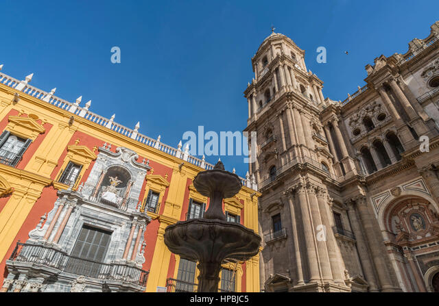 Cathedral of Malaga, Andalucia, Spain, - Stock-Bilder