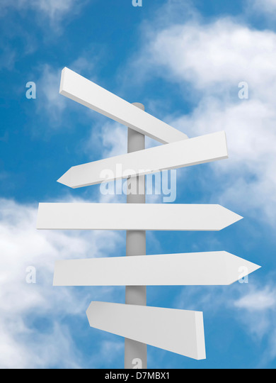 Signpost, artwork - Stock Image