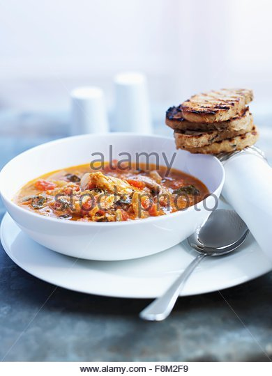 Sri Lankan vegetable soup - Stock Image