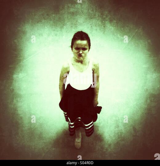Angry girl - Stock Image
