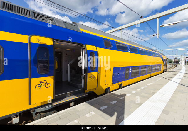 Intercity train in The Netherlands - Stock-Bilder