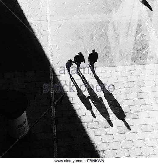 People Walking Together - Stock Image