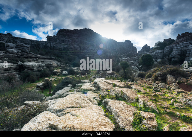 El Torcal, Antequera, Malaga, Andalusia, Spain. - Stock Image