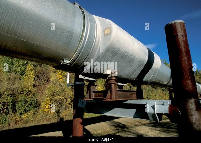 Alaska trans alaska oil pipeline - Stock Image