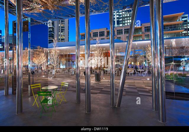 Klyde Warren Park, Dallas, Texas - Stock-Bilder