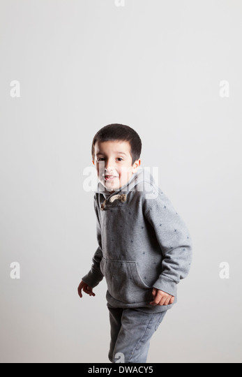 Portrait of a happy boy - Stock Image