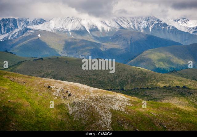 On the trail to Mtn. Belukha, Altai Republic, Siberia, Russia - Stock-Bilder