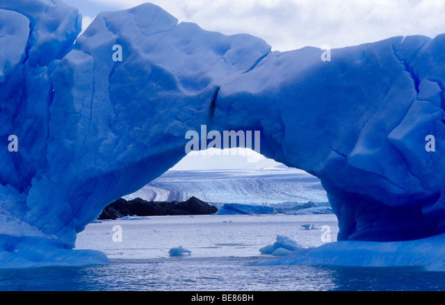 Icebergs near Upsala glacier. Lago Argentino. Los Glaciares National Park. Santa Cruz province. Patagonia. Argentina. - Stock Image