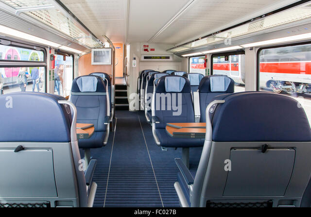 Intercity Double-Deck-Trains for Deutsche Bahn - Stock-Bilder