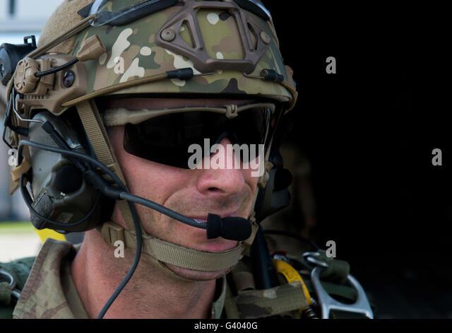 A U.S. Air Force combat controller. - Stock Image