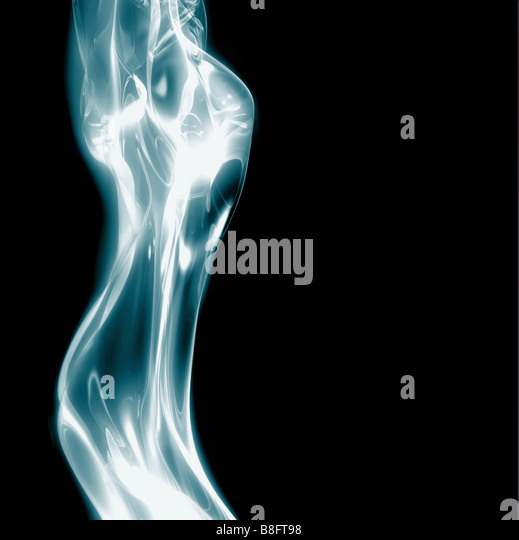 excellent abstract art image depicting glowing female body electric theme - Stock Image