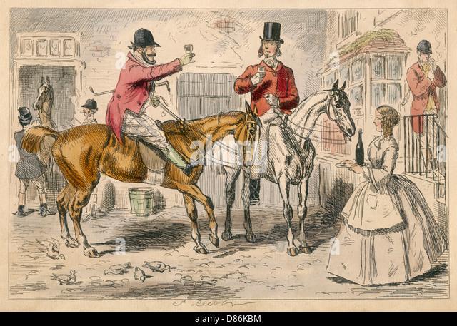 Stirrup Cup Leech 1850 - Stock-Bilder
