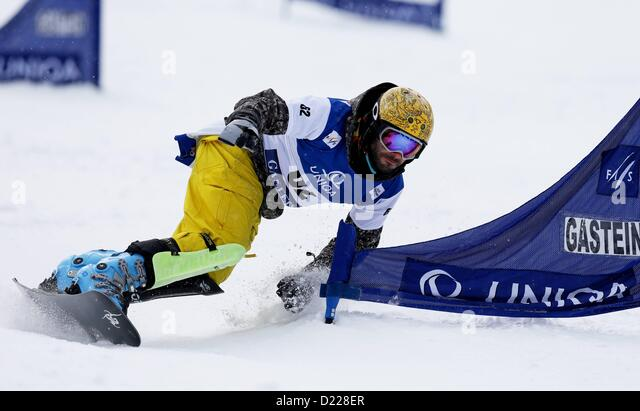 11 01 2013  Pictures Snowboarding FIS WC Bath Gastein PSL men Bath Gastein Austria 11 Jan 13 Snowboarding FIS World - Stock Image