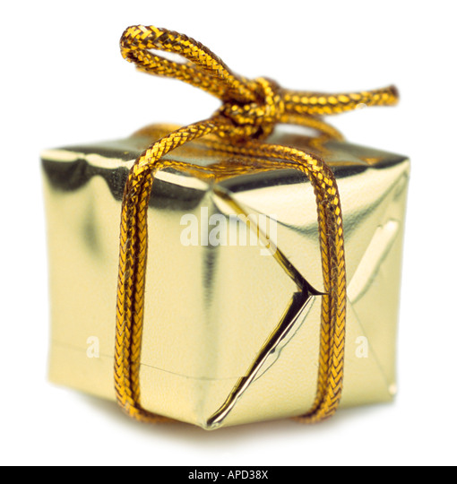 Wrapped gift - Stock Image