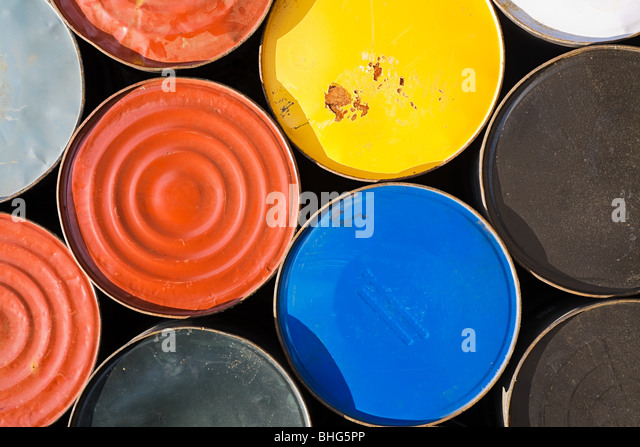 Oil drums - Stock Image