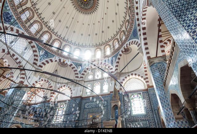 Mosque of Rustem Pasha, Tahtakale, Istanbul, Turkey - Stock Image