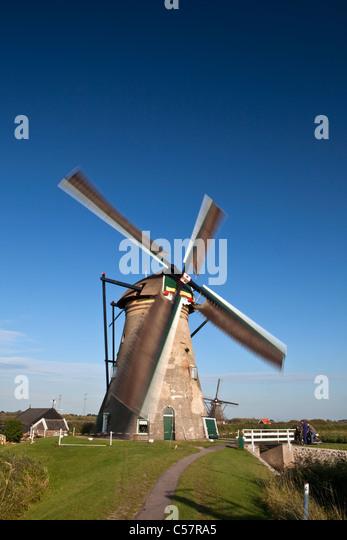 The Netherlands, Kinderdijk, Windmills, Unesco World Heritage Site. - Stock Image