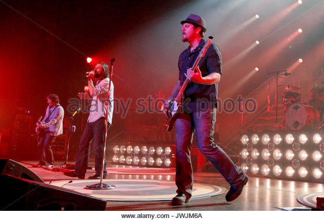Mark David Lee, Mac Powell and Samuel Tai Anderson. Christian rock band Third Day made a stop on their Miracle Tour - Stock Image