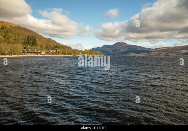 Loch Lomond United Kingdom  city pictures gallery : Luss Loch Lomond Scotland United Kingdom Stock Image