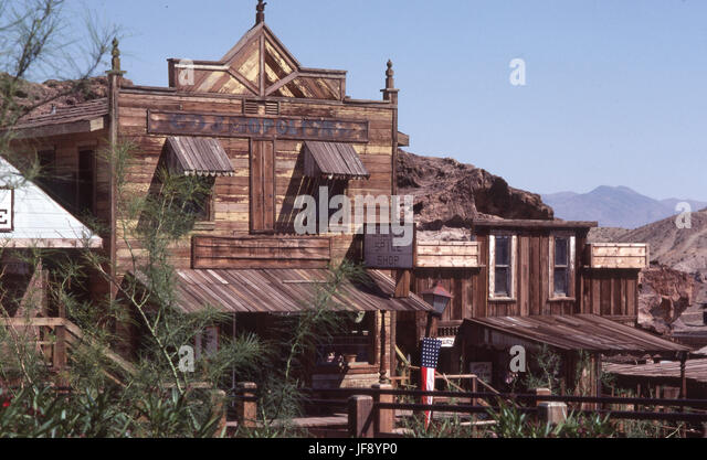 Calico is a ghost town and former mining town in San Bernardino County, California, United States. - Stock Image
