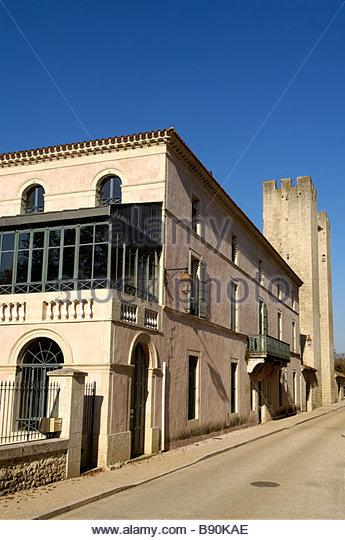Fortress of Moulin des Tours or Henri IV mill in Barbaste, Albret Pays, Lot et Garonne, France - Stock Image