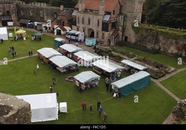 Monmouthshire Food Festival, Cadicot Castle, Gwent. October 2015 - Stock Image