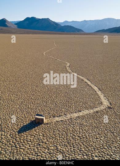 Rolling Rock The Racetrack Death Valley National Park California Nevada USA - Stock-Bilder
