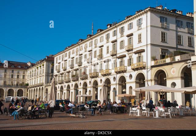 Piazza Vittorio Veneto square central Turin Piedmont region Italy Europe - Stock Image