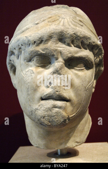 Philip V (238-179 B.C.). King of Macedon from 221 to 179 B.C. Bust. Lunense marble. Roman copy of the epoch of Hadrian - Stock-Bilder