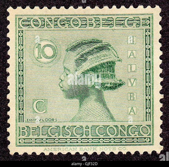 Belgian congo 1923 issue-10c - Stock-Bilder