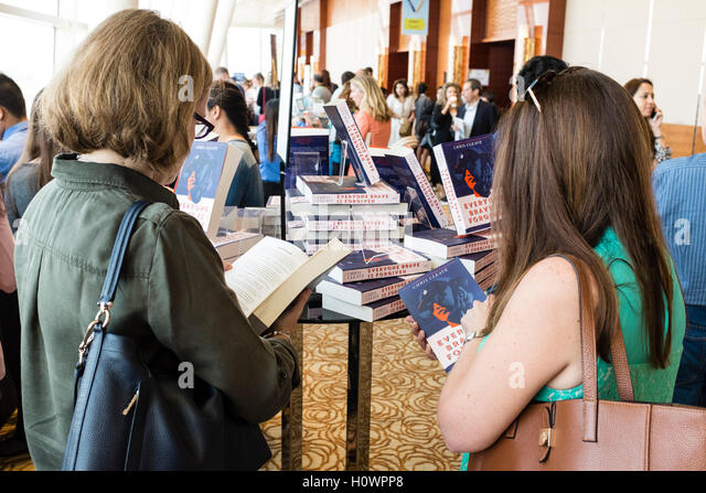 Interior of venue at Emirates Airlines Festival of Literature 2016 in Dubai, United Arab Emirates - Stock Image