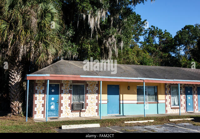 Florida Gainesville The Florida Motel budget rooms - Stock Image