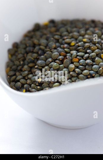 Green Puy Lentils - Stock Image