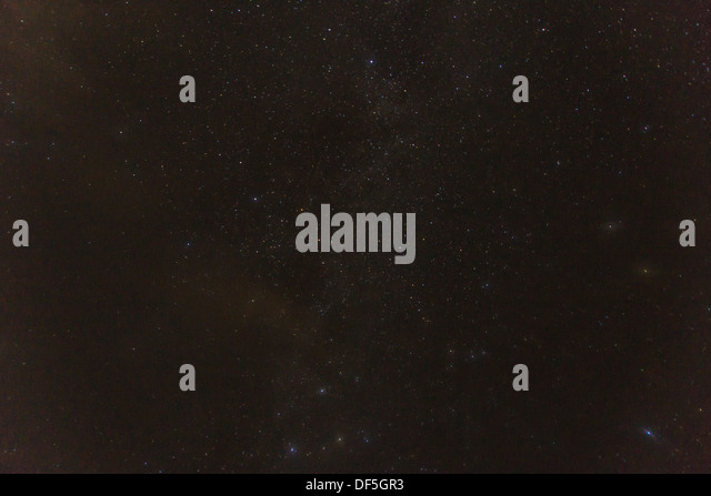 Stars at night at shining at the firmament - Stock Image