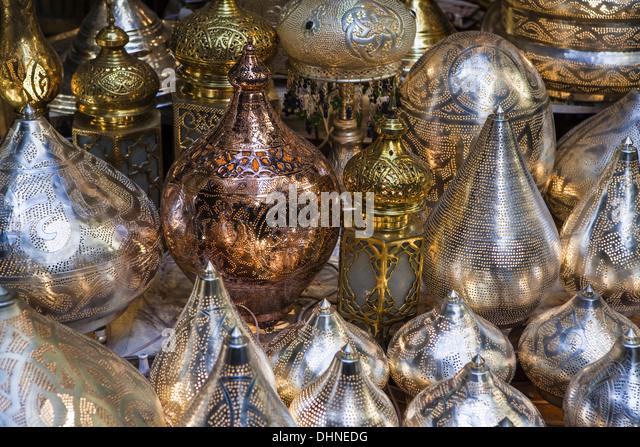 Africa, Egypt, Cairo, the Khal El Khalili market - Stock Image