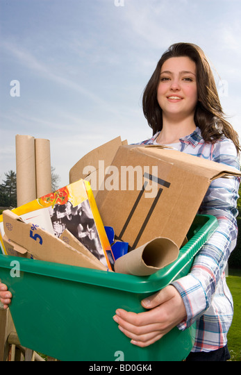 Children Recycling - Stock Image