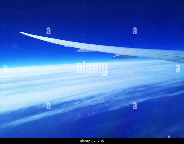 AIRCRAFT WINDOW VIEW. Photo Tony Gale - Stock-Bilder