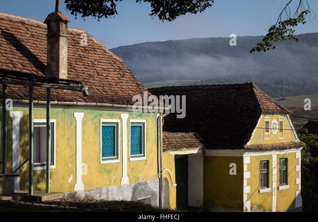 Romania houses stock photos romania houses stock images alamy - Saxon style houses in transylvania ...