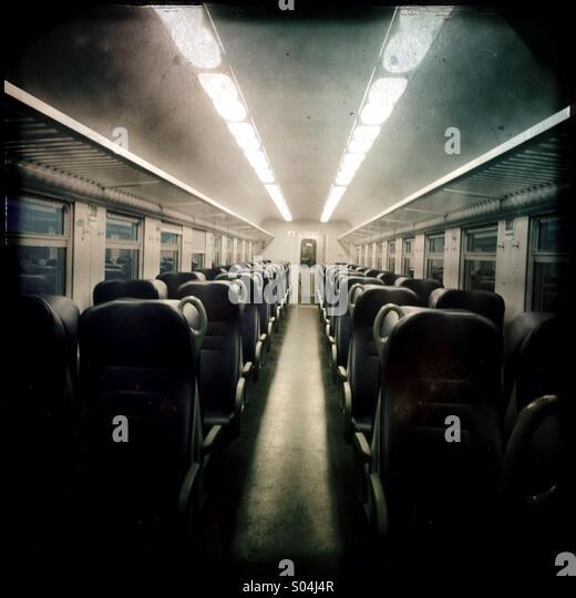 Empty train wagon - Stock Image