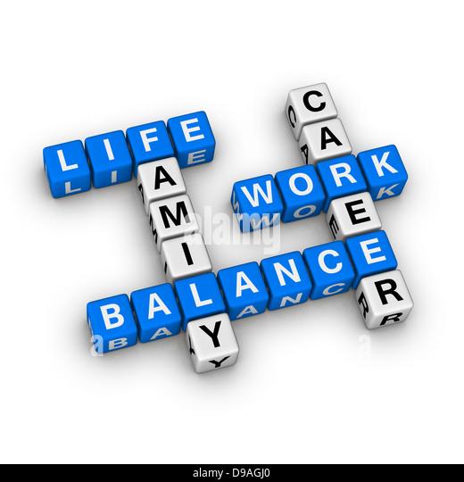 Work and Life Balance - Stock-Bilder