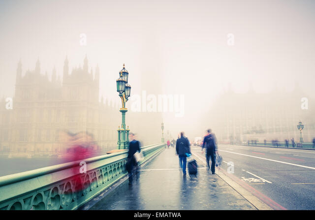 Westminster bridge in London - Stock Image