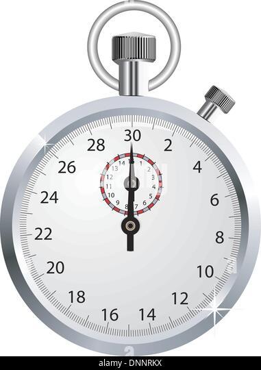 Vector stopwatch - Stock Image