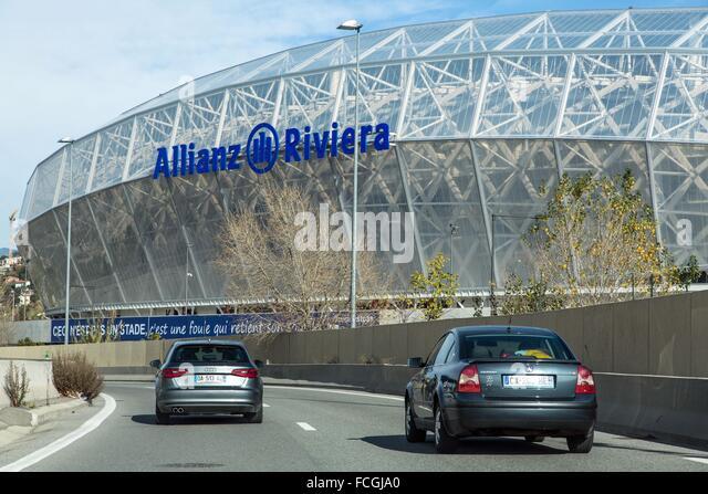 ALLIANZ RIVIERA STADIUM, NICE, (06), ALPES-MARITIMES, PACA, FRANCE - Stock Image