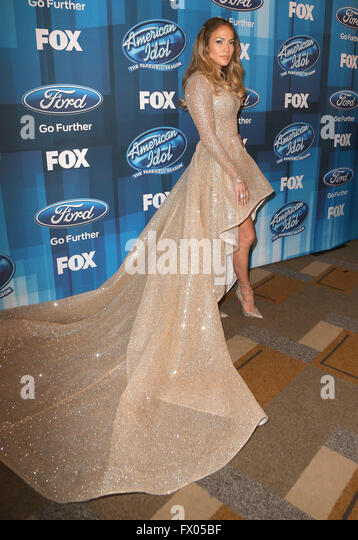 Hollywood, CA, USA. 7th Apr, 2016. 07 April 2016 - Hollywood, California - Jennifer Lopez. Arrivals for FOX's - Stock Image