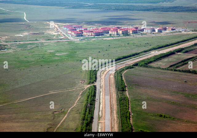 Buildings and development in Astana, the capital of Kazakhstan - Stock Image